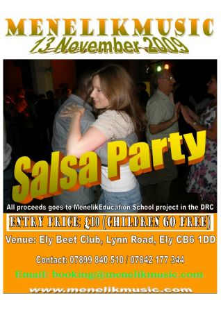 Salsa party at the Ely Beet Club, Friday November 13th