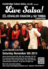 Osvaldo Chacon Live, Cambridge, November 9th 2013