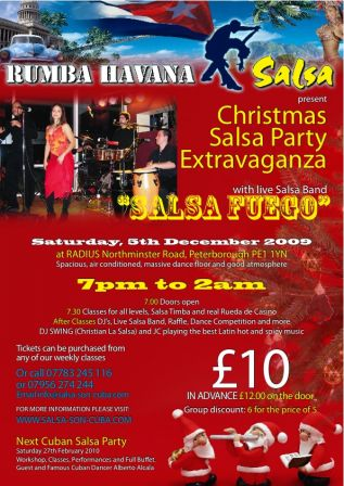 XMas salsa party Peterborough